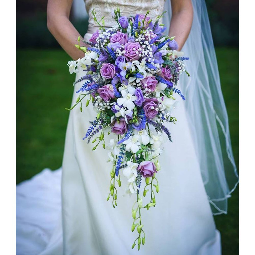 blue-and-purple-cascading-wedding-bouquet