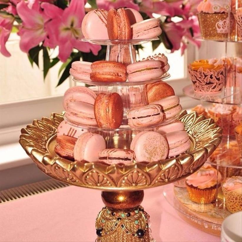 rose-gold-macaron-tower