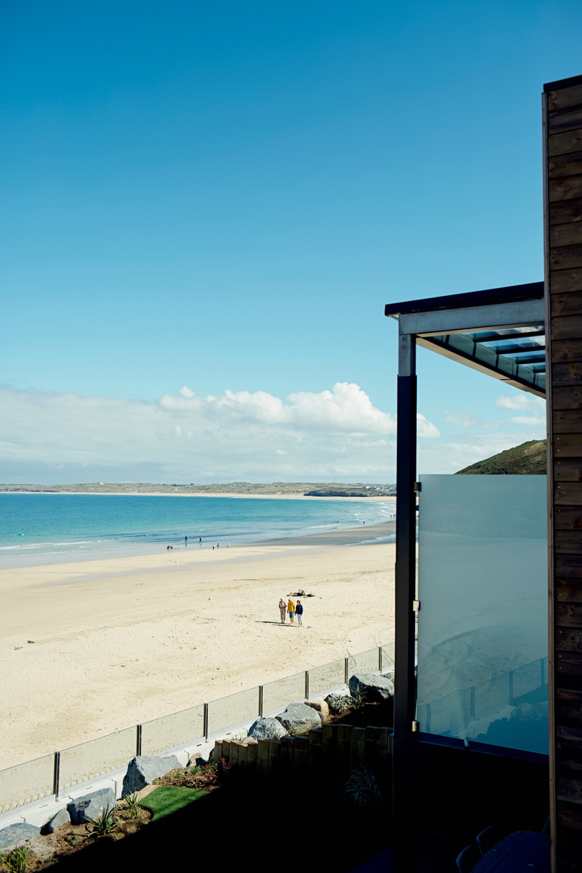 View from the Carbis Bay Hotel's new luxury lodges