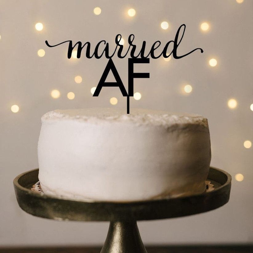 Quirky cake topper