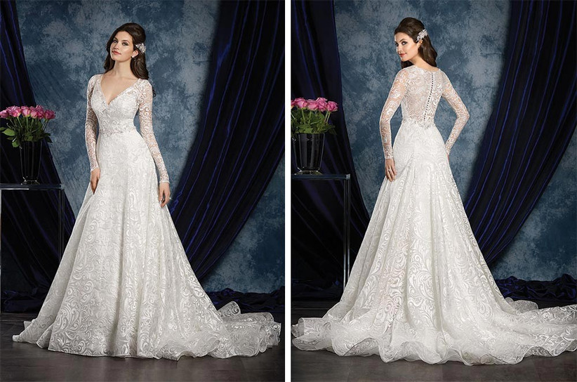 long-sleeved-traditional-style-wedding-dress-2