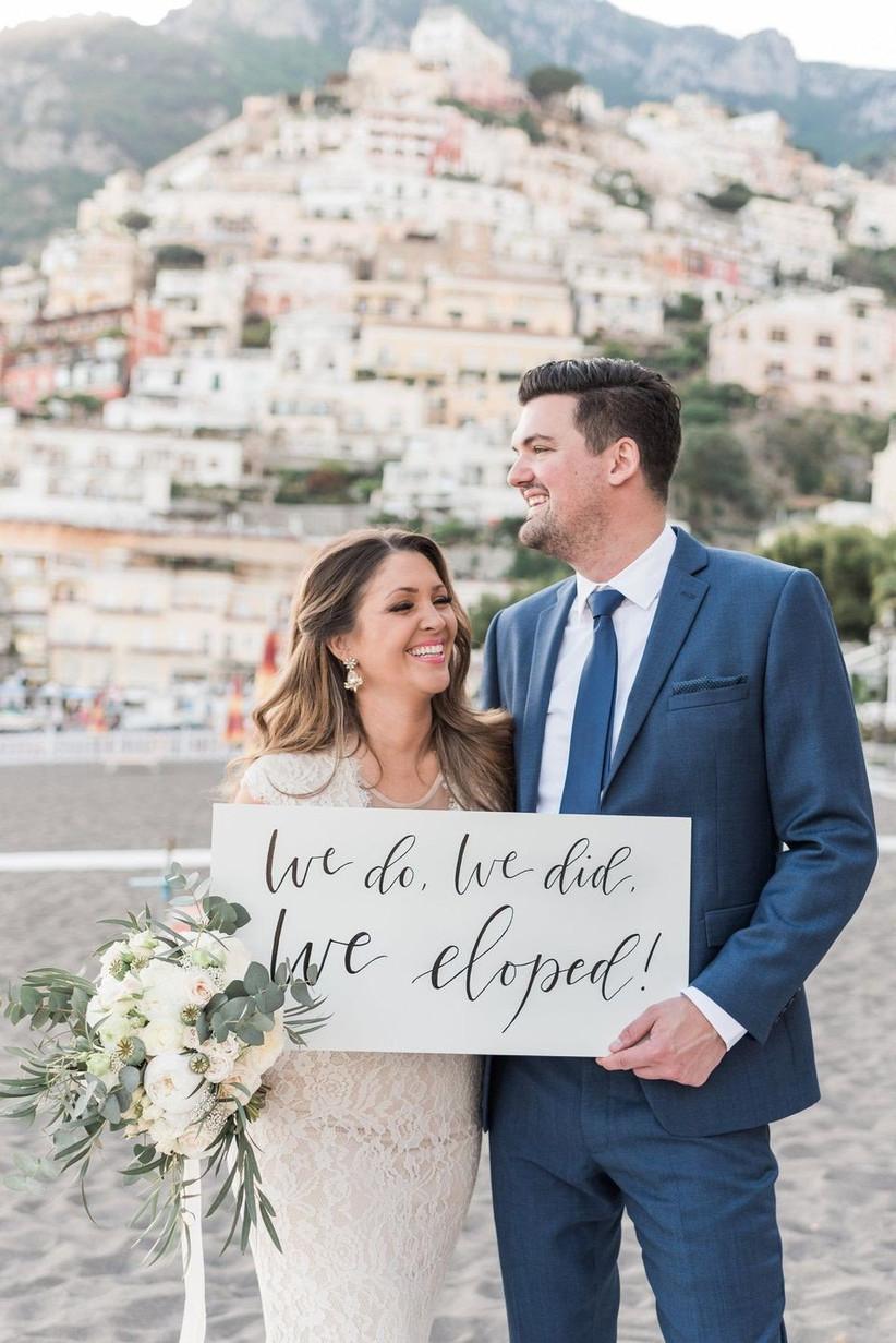 Pinterest- elopement announcement