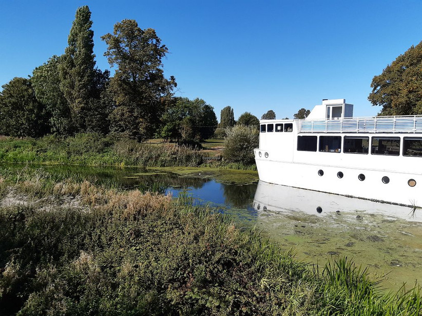 Exterior of Northamptonshire wedding venue The Ark on the River Nene