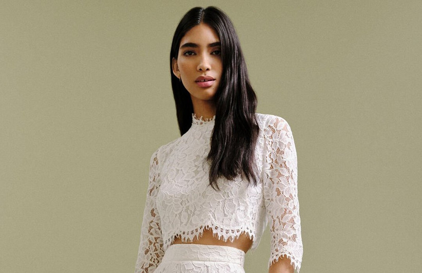 15 Best Two-Piece Wedding Dresses & Bridal Separates for 2020