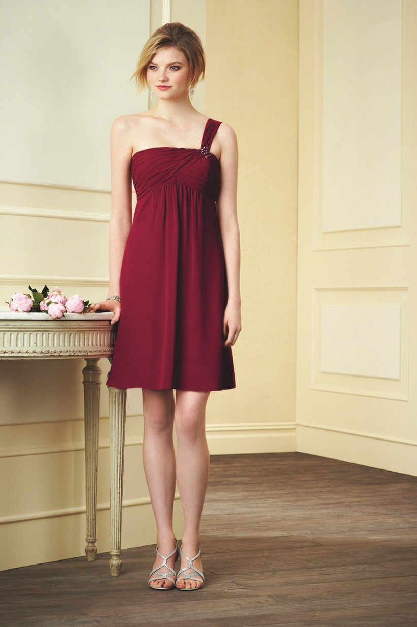 this-burgundy-one-shoulder-bridesmaid-dress-from-alfred-angelo-comes-in-a-short-and-sweet-length