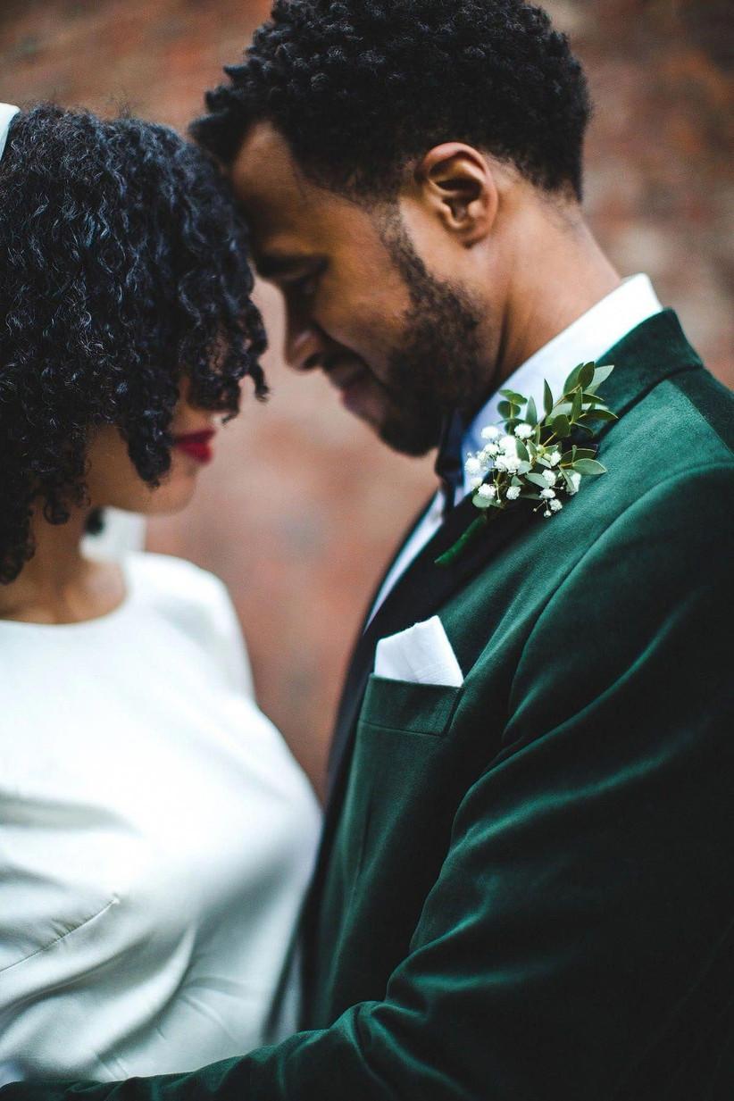 winter velvet grooms suit