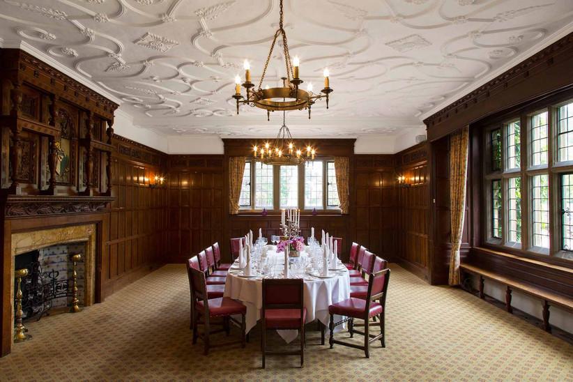 Interior of Hertfordshire wedding venue Farnhams Hall