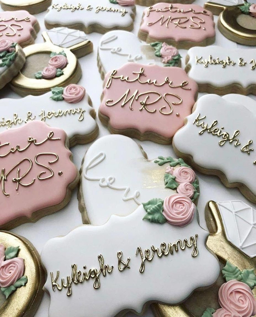 engagement party biscuits