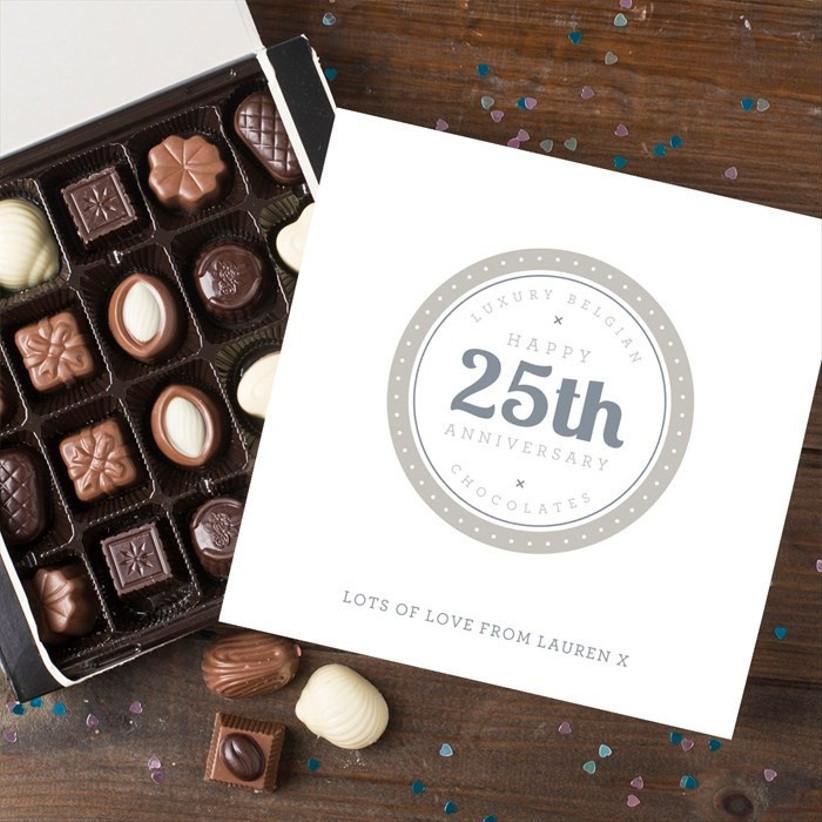 silver anniversary chocolates