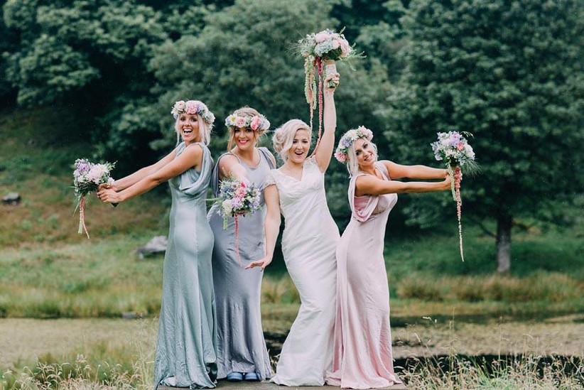glamorous-vintage-bridesmaids-at-the-wild-boar-wedding-venue