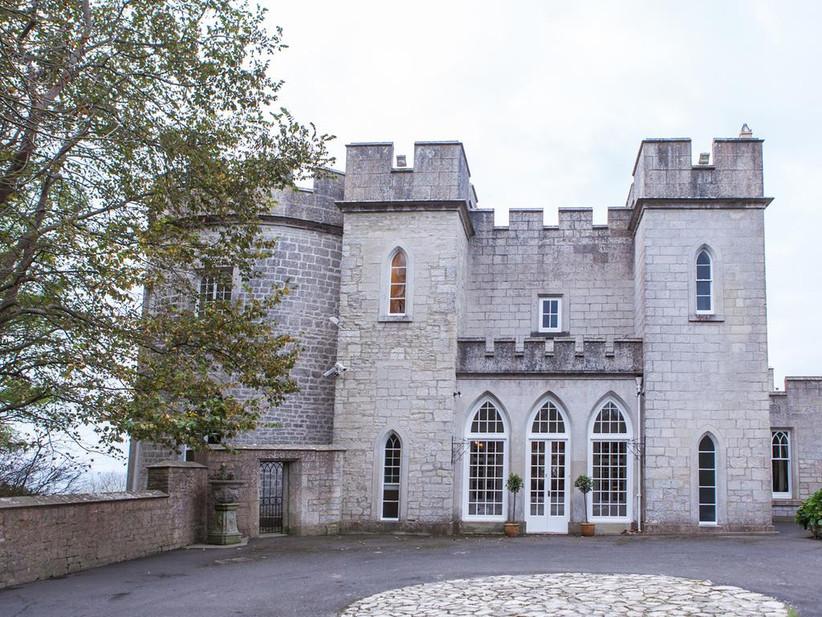 Exterior of outdoor wedding venue Pennsylvania Castle