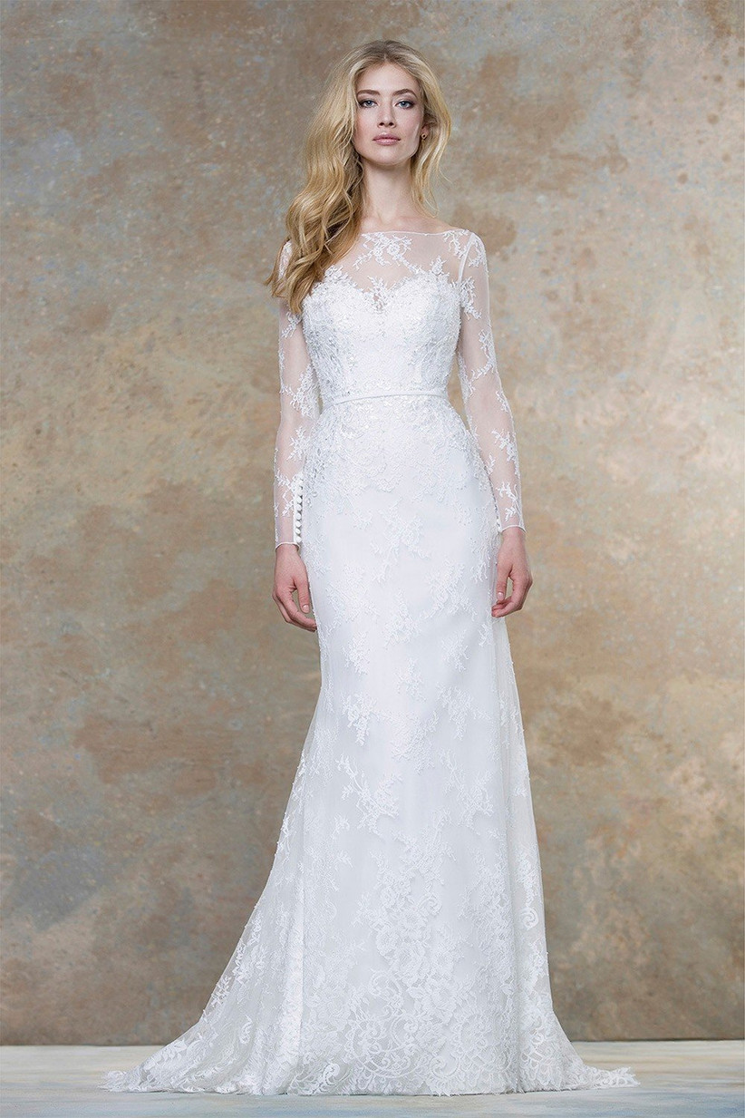 illusion-neckline-long-sleeve-wedding-dress