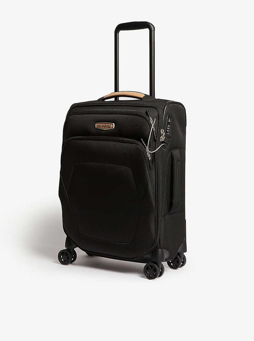 Black eco-friendly suitcase