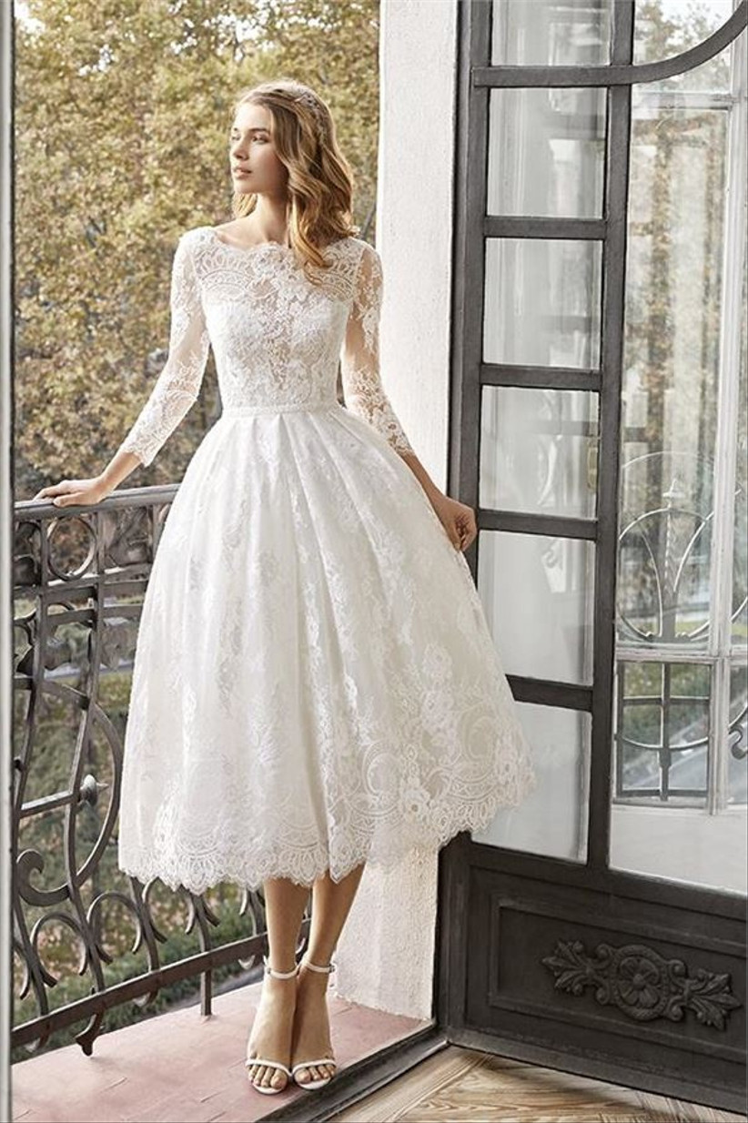 30 Of The Best Tea Length Wedding Dresses Hitched Co Uk,Corset Wedding Dresses Ball Gown Style