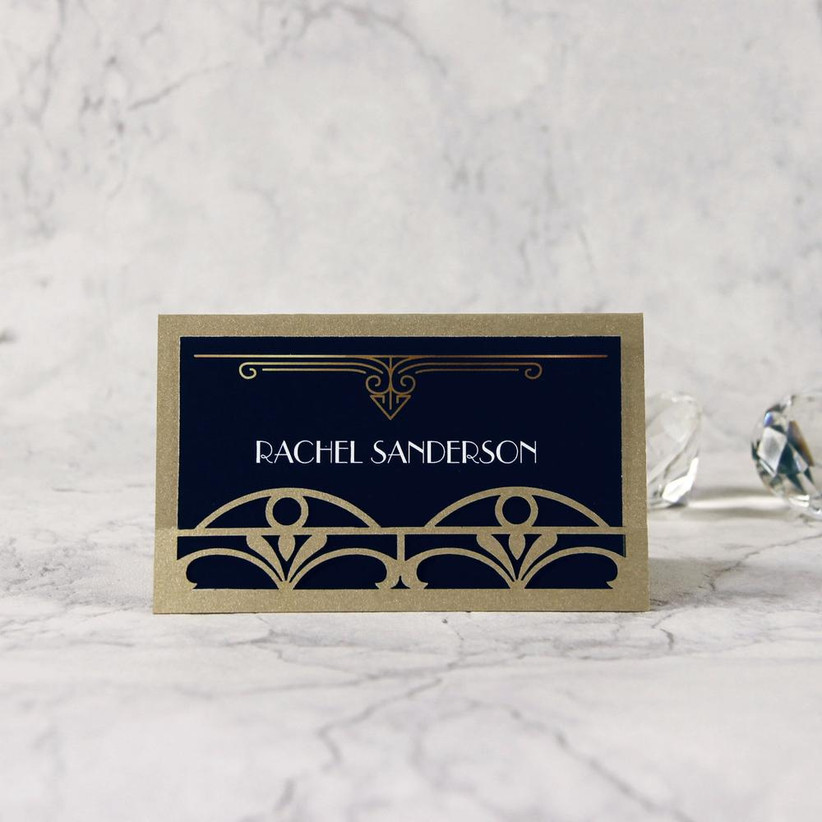 Handmade Personalised Vintage Art Deco Table Seating Plan Individual Cards