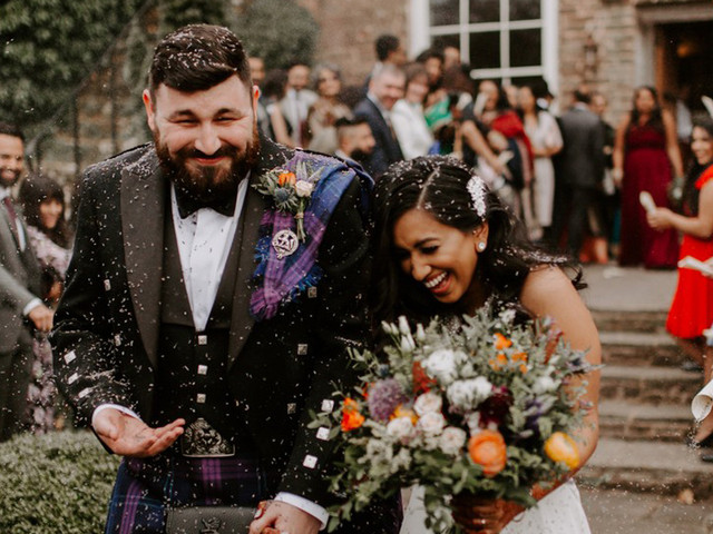 A Colourful, Rustic Barn Wedding at Dewsall Court with Scottish Touches