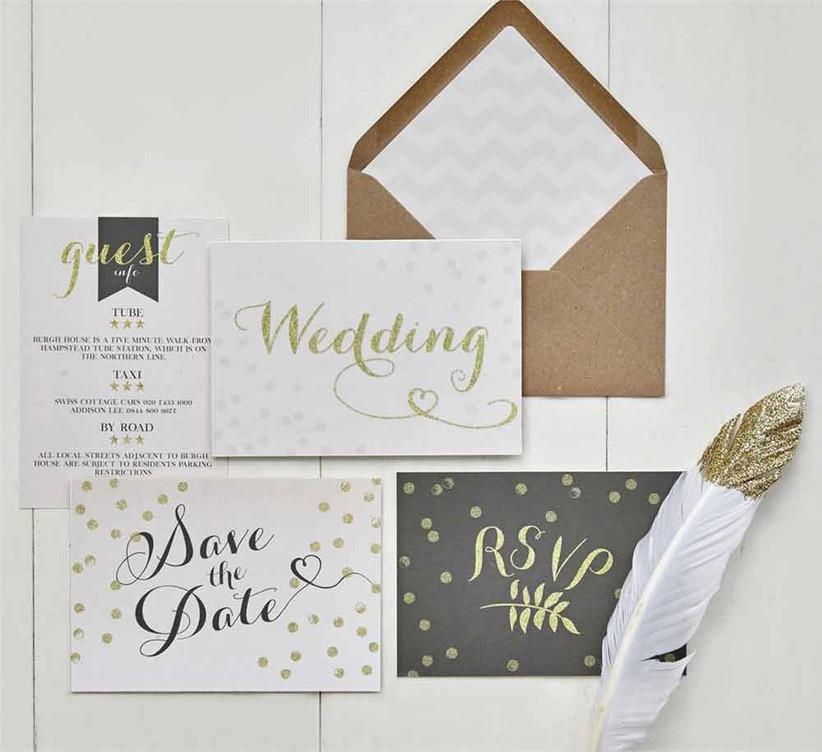 gold-wedding-stationery