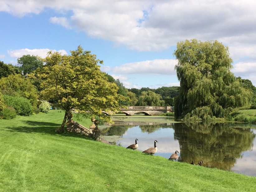 The gardens at Northamptonshire wedding venue Deene Park Estate