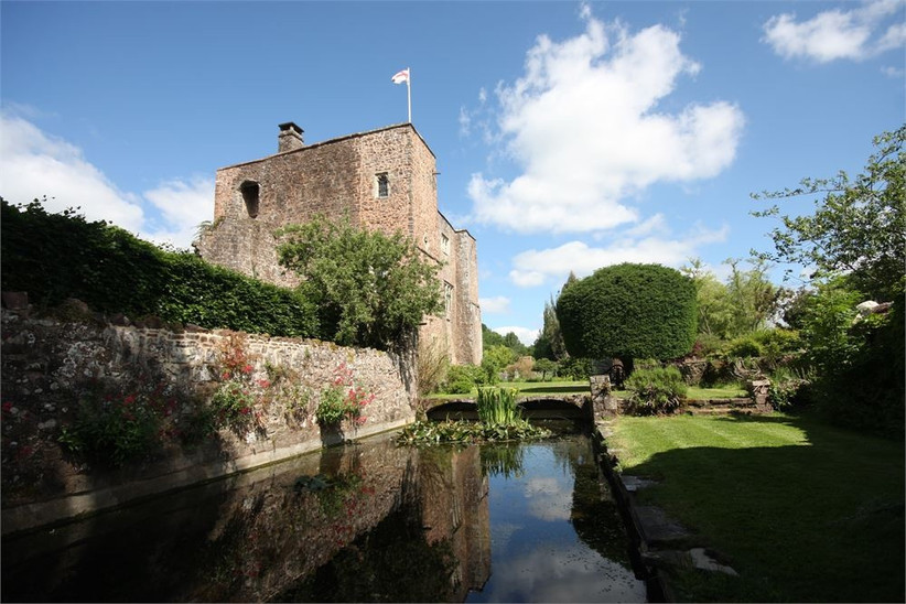 Castle surrounded by a moat