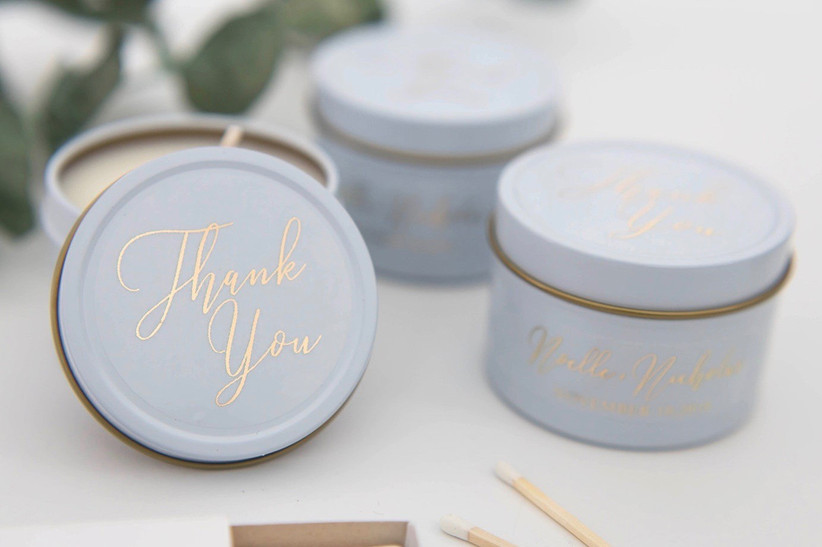 18. wedding thank you gifts Wedding Candle - Thank You Script Custom Candles, Candle Favors, Soy Candle, Home Candle, Candle Gift, Candle, Scented Candle, F-TC01W - Etsy