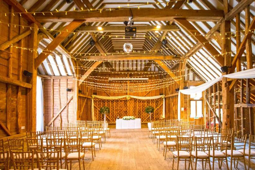 The barn at Hertfordshire wedding venue Tewin Bury Farm