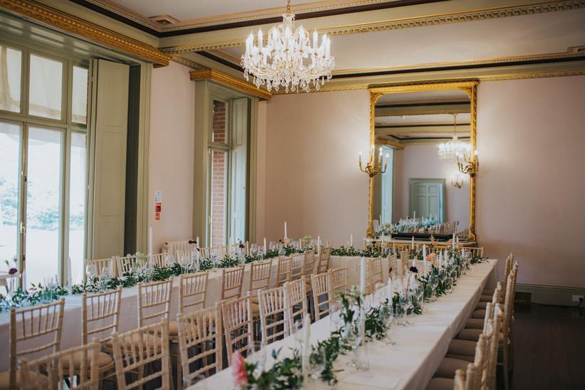 The ballroom at Garthmyl Hall