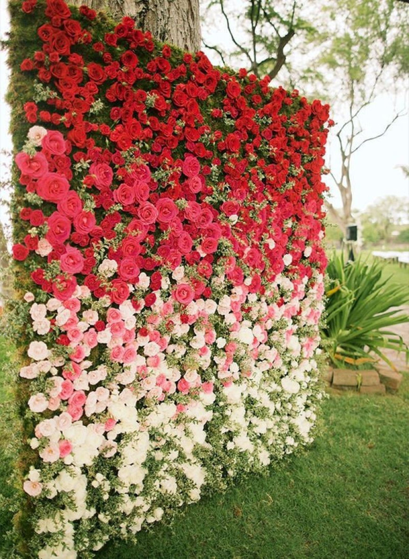 ombre flower wall
