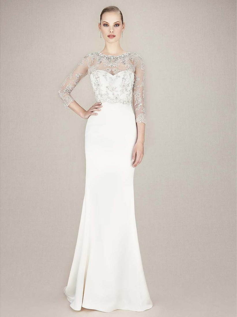 embellished-fit-and-flare-wedding-dress