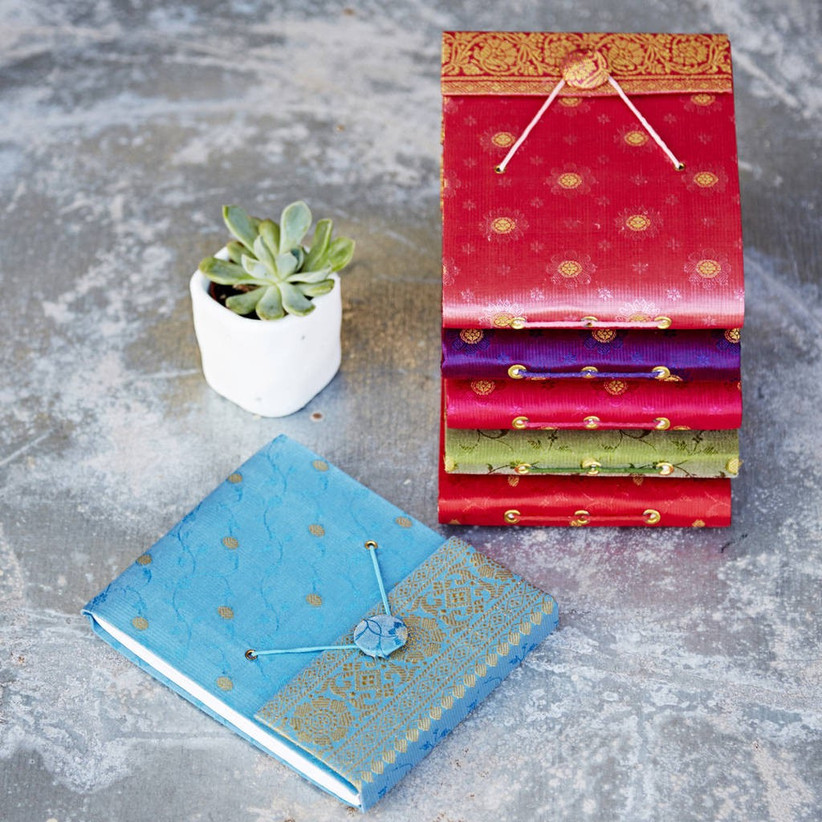 Cotton covered notebooks