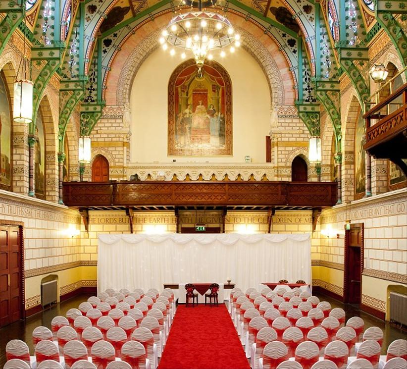 Interior of Northamptonshire wedding venue Guildhall Northampton