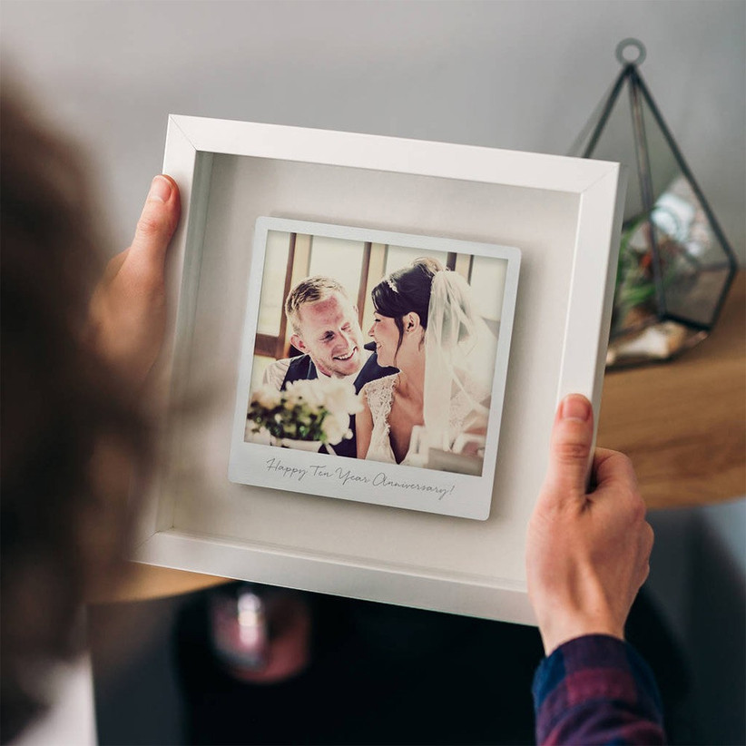 Tin print in a photo frame