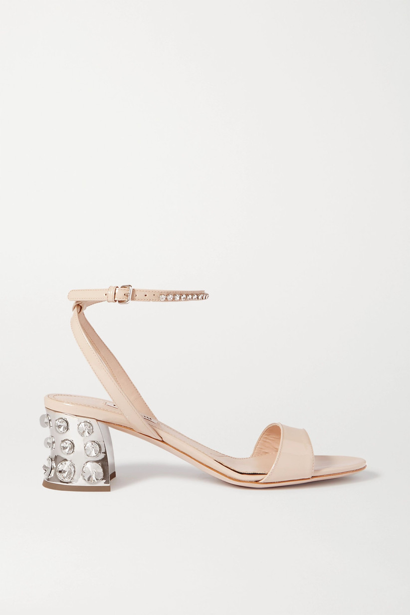 Studded pink bridal heel