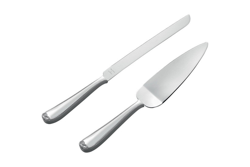 Silver cake knife