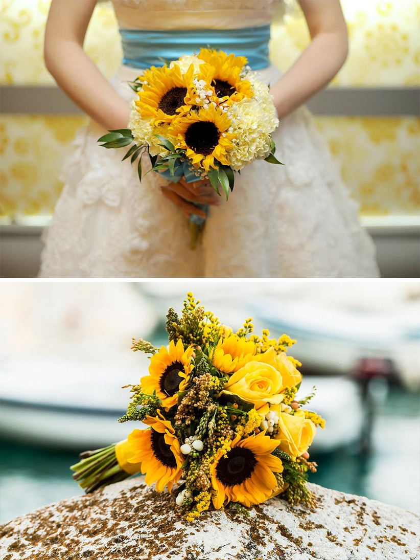 sunflower-wedding-bouquets-which-are-perfect-for-a-september-wedding