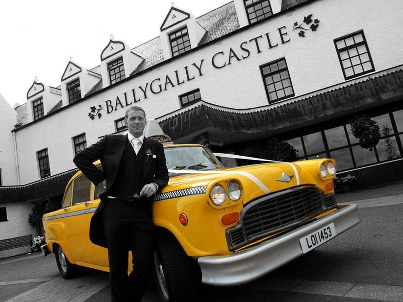 yellow-new-york-taxi-cab-wedding-car