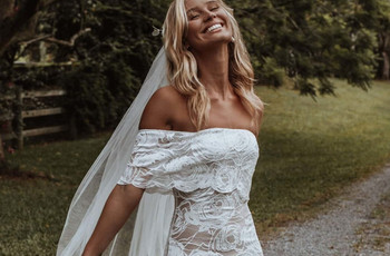 45 of Our Favourite Off the Shoulder Wedding Dresses