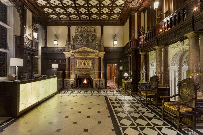 Interior of Crewe Hall reception area