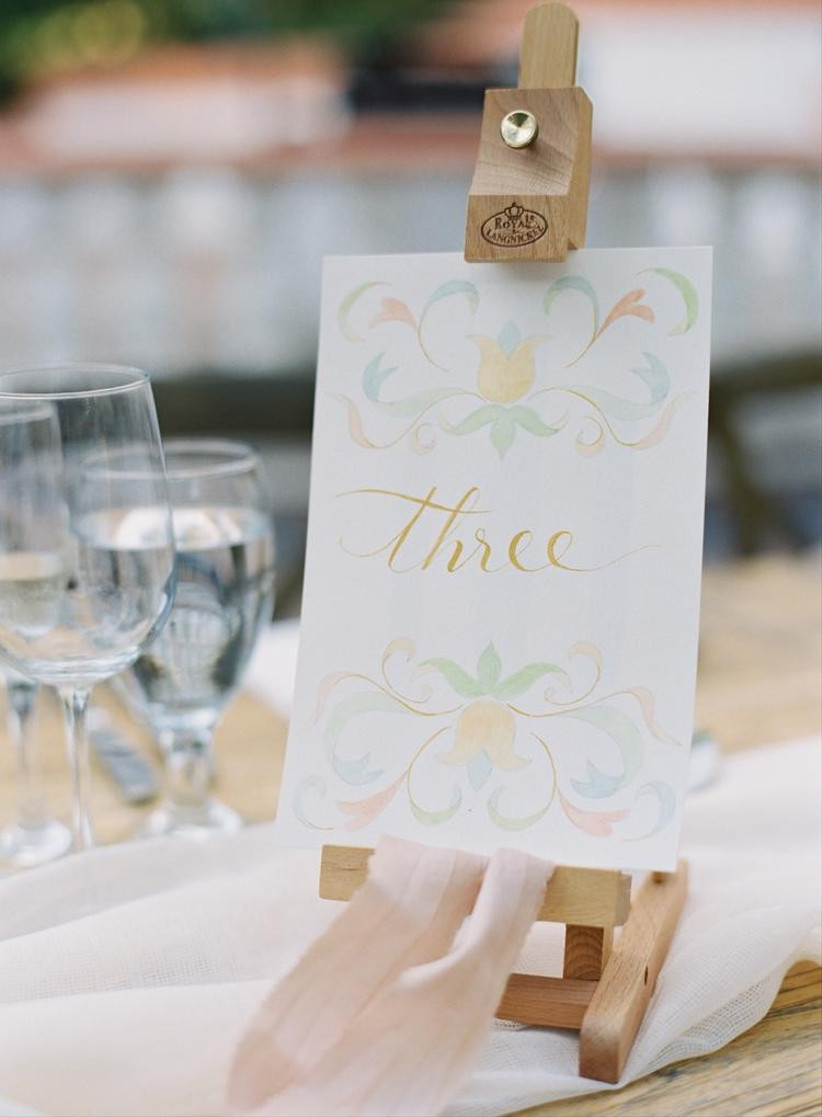 easel table number