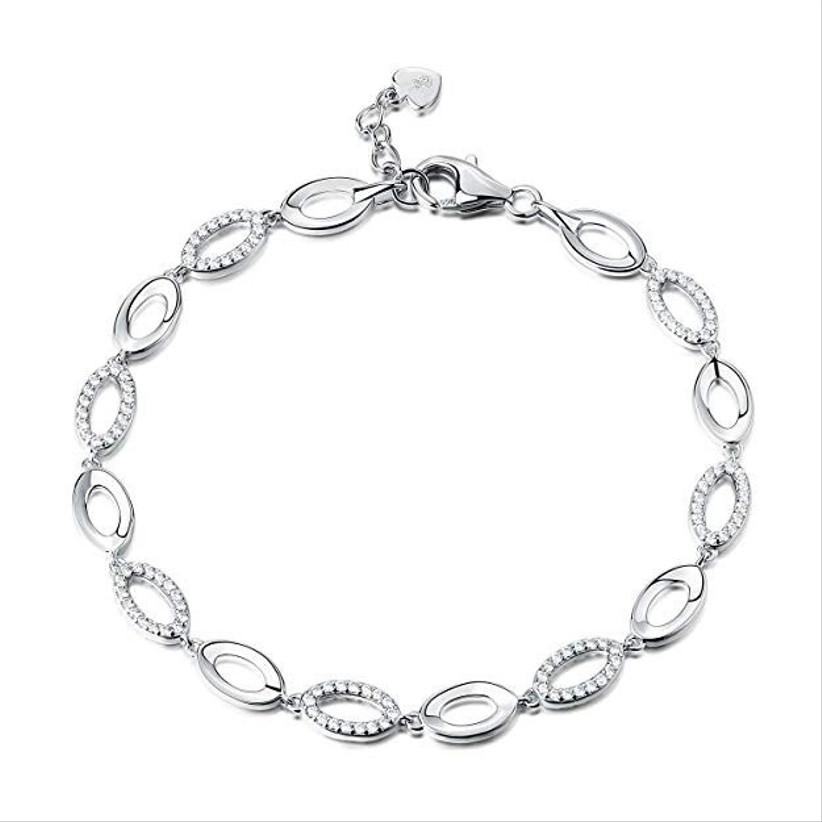 Silver anniversary bracelet