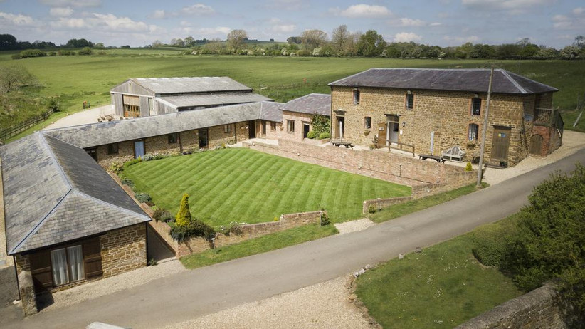 Exterior of Northamptonshire wedding venue The Granary at Fawsley