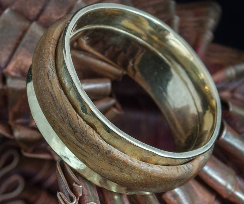 gold-and-cocobolo-wood-interlocking-ring