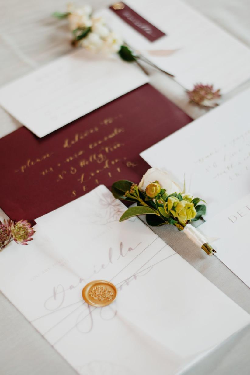 Daniella and Jayson's wedding stationery