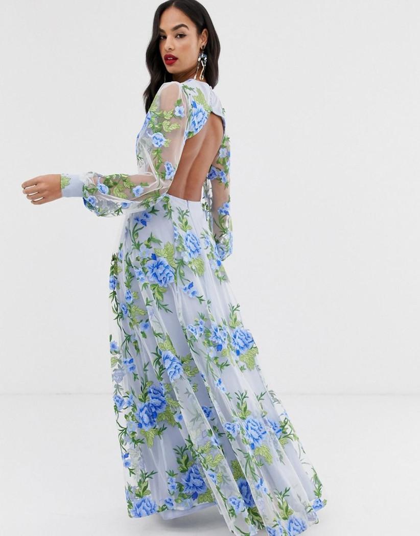ASOS floral pastel dress