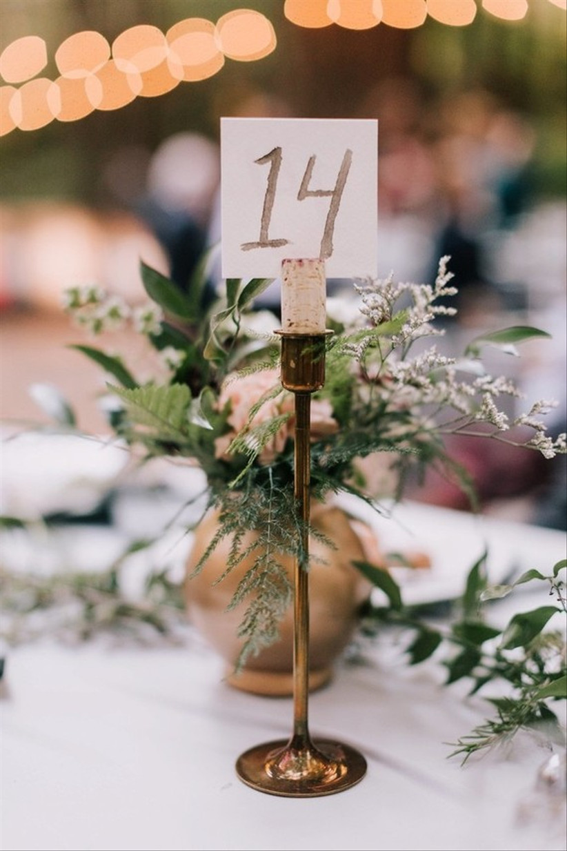 Candlestick wedding table number