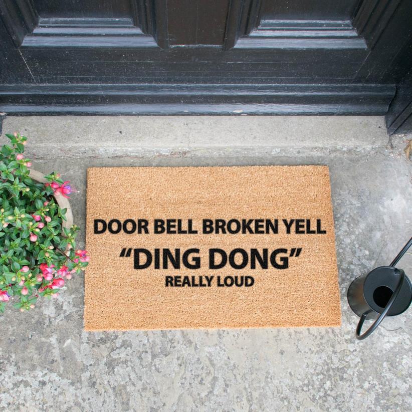 Funny quote doormat