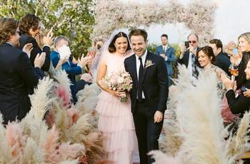 25 Times Celebrity Brides Chose Non-White Wedding Dresses
