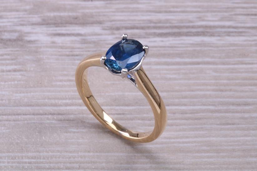 Oval cut sapphire