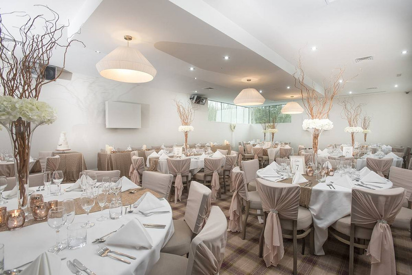 Wedding venue dining area