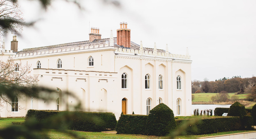 Exterior of Combermere Abbey's North Wing