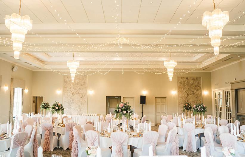 Glamourous wedding dining area